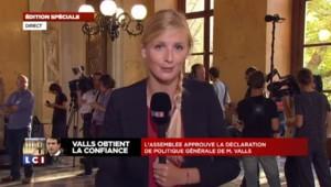 """Vote de confiance : """"Manuel Valls obtient 37 voix en moins par rapport au dernier vote"""""""