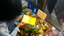 Apple store de Ginza, Tokyo, le 6 ocobre 2011 après la mort de Steve Jobs