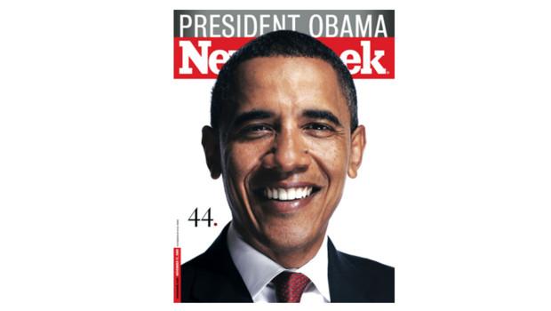 Couverture de l'hebdomadaire Newsweek pour l'élection de Barack Obama, en novembre 2008.