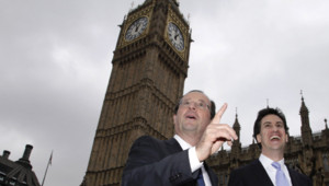 François Hollande et Ed Miliband à Londres, mercredi 29 février 2012.