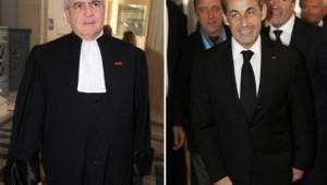 Nicolas Sarkozy et son avocat, Me Herzog.
