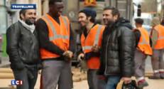 Eric Toledano et Olivier Nakache avec leur acteur fétiche Omar Sy sur le tournage de Samba