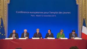 François Hollande lors de la conférence européenne pour l'emploi des jeunes mardi 12 novembre.