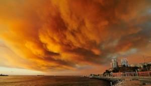 La ville de Valparaiso menacée par un important incendie