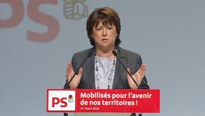 Martine Aubry au conseil national du PS (27 mars 2010)