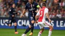 Zlatan Ibrahimovic et les Parisiens ont concédé un match nul face à l'Ajax Amsterdam (1-1).