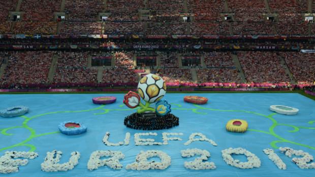 Cérémonie d'ouverture de l'Euro-2012 à Varsovie, le 8 juin 2012.
