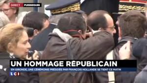 Drame en Gironde : François Hollande est arrivé à Puisseguin