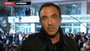 Nikos Aliagas à Athènes, 25 janvier 2015, élections législatives en Grèce