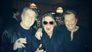 Eddy Mitchell, Jacques Dutronc et Johnny Hallyday, janvier 2014.