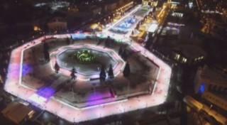 Quand Moscou se transforme en patinoire géante