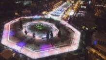 La patinoire de Moscou en plein air.