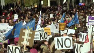 Le 20 heures du 1 février 2014 : Les Espagnols mobilis�pour d�ndre le droit �%u2019avortement - 611.1542809143067