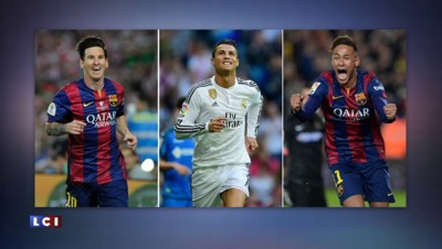 Football : Messi, Ronaldo et Neymar finalistes du Ballon d'Or