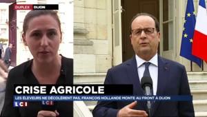 """""""Hollande a fait état d'un échange direct et franc avec les agriculteurs"""""""