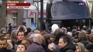 Marche républicaine: François Hollande est arrivé place de la République
