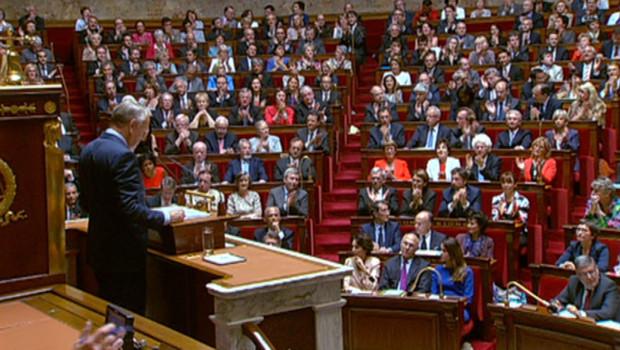 Le Premier ministre Jean-Marc Ayrault devant l'Assemblée nationale, mardi 3 juillet 2012.