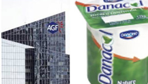 TF1/LCI AGF assurance Danacol Danone anti cholestérol