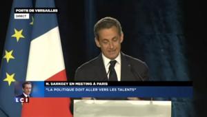 """Meeting de Sarkozy : """"Laissons s'épanouir les talents dans notre famille politique"""""""