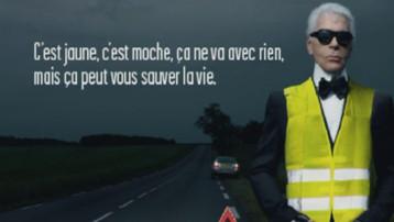 publicité lagerfeld sécurité routière routes