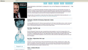 Capture d'écran du site Wikileaks hébergé en Suisse, 3 décembre 2010