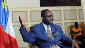 Le président centrafricain François Bozizé dans le palais présidentiel de Bangui le 8 janvier 2013.