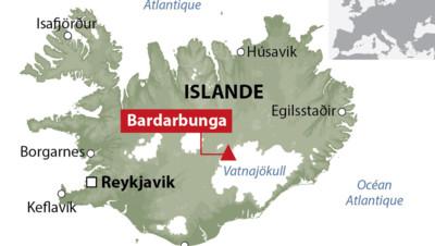 Le volcan Bardarbunga en Islande