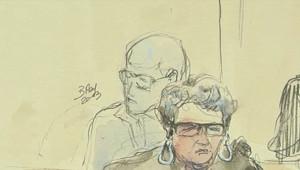 Matthieu, assassin présumé de la jeune Agnès, lors de l'ouverture de son procès au Puy-en-Velay, le 18 juin 2013