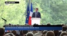 Université d'été du Medef: Manuel Valls ovationné à son arrivée par les chefs d'entreprise