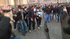 Manifestation à Paris après la validation de la loi sur le mariage gay par le Conseil constitutionnel, 17/5/13