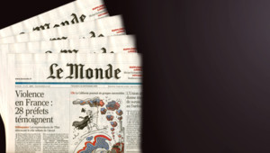 TF1/LCI - La Une du journal Le Monde du vendredi 22 septembre 2006