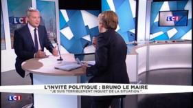 """Bruno Le Maire : """"Je suis terriblement inquiet de la situation"""""""