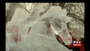 Compétition de sculptures sur glace en Chine