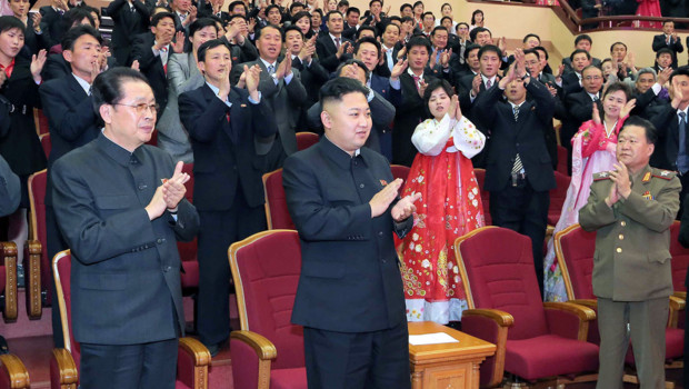 Jang Song-Thaek et Kim Jong-Un