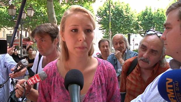 Marion Maréchal-Le Pen, la nièce de Marine Le Pen à Carpentras le 18 juin 2012