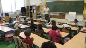 Une classe de CP à l'école Bolivar (Paris).