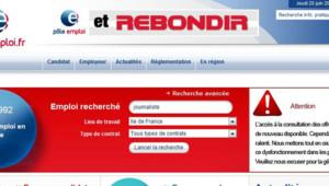 Capture écran du site pôle emploi en panne