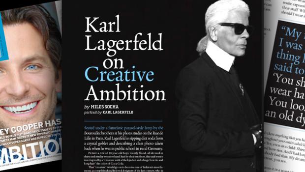 Le Magazine M publie le 28 septembre 2012 une interview de Karl Lagerfeld