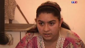 Leonarda, l'adolescente kosovare expulsée, filmée le 16 octobre 2013 par TF1