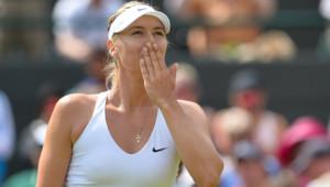 Maria Sharapova, à Wimbledon, le 6/7/15