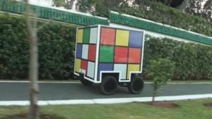 Une voiture Rubik's Cube dans la vidéo teaser de l'émissi