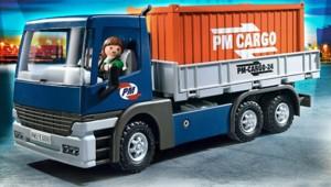 Le camion porte-conteneurs