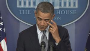 Barack Obama, après la tuerie de Newton, Connecticut, le 14 décembre 2012.