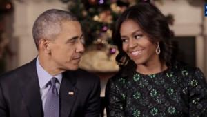 Barack Obama Michelle Obama 2015 Noël