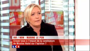 Le clin d'oeil de Marine Le Pen à Hulot