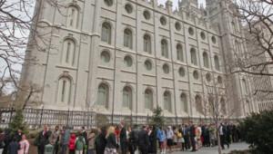 Le temple historique des mormons à Salt Lake City, capitale de l'Utah, l'Etat où ils sont le plus présents aux Etats-Unis