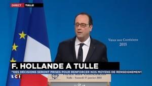 """Voeux de Hollande aux Corréziens : """"Des décisions seront prises pour renforcer nos moyens de renseignement"""""""