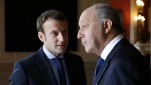 Emmanuel Macron et Laurent Fabius