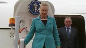 Hillary Clinton arrive à Brunei, le 6/9/12