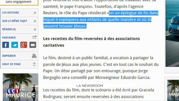 """""""Beyond The Sun"""" : le pape François s'apprête à faire ses débuts au cinéma"""